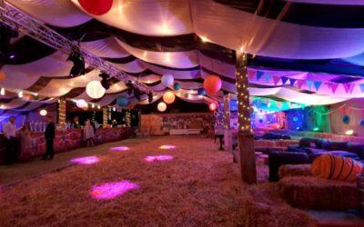 Ceiling Drapes, Lighting & Chinese Lanterns