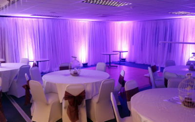 Function Room Voile Drapes & LED Uplighters
