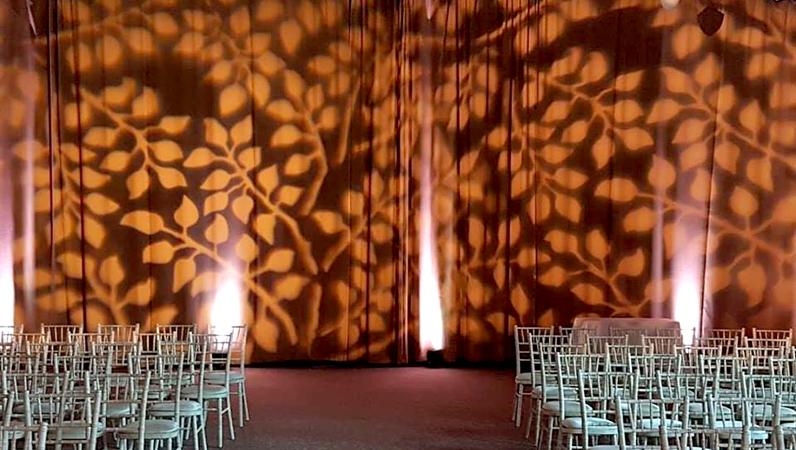 Custom Leaf Backdrop